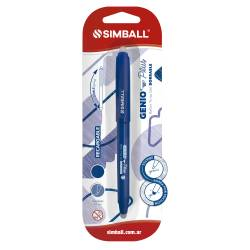 Roller Borrable Genio Plus Azul Simball x 1 un.