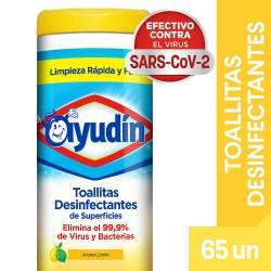 Toallitas Desinfectantes Limón Ayudín  x 65 un.