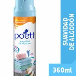 Desodorante de Ambiente Aerosol Suavidad de Algodón Poett x 360 cc.