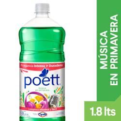 Limpia Piso Desinfectante Música en Primavera Poett x 1,8 lt.