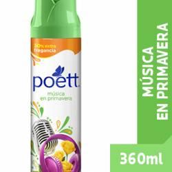 Desodorante de Ambiente Aerosol Música en Primavera Poett x 360 cc.