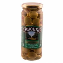 Aceitunas Verdes Rellenas Morrón Frasco Nucete x 200 g.