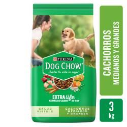 Alimento para Perro Cachorro Raza M/G Dog Chow x 3 Kg.