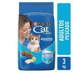 Alimento para Gato Adulto Pescado Cat Chow x 3 Kg.