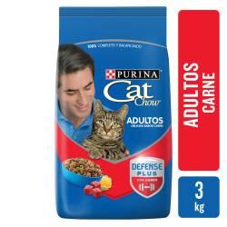 Alimento para Gato Adulto Carne Cat Chow x 3 Kg.
