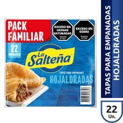 Tapas p/ Empanadas Hojaldradas La Salteña x 22 un. 605 g.