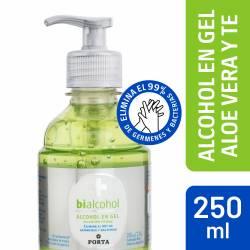 Alcohol en Gel c/Aloe y Te Verde Bialcohol x 250 cc.