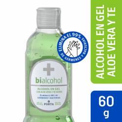 Alcohol en Gel c/Aloe y Te Verde Bialcohol x 60 cc.