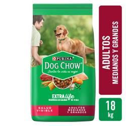 Alimento para Perro Adulto Raza M/G Dog Chow x 18 Kg.