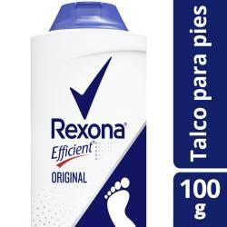 Desodorante para pies Rexona Efficient Original en Talco x 100 gr.