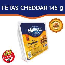 Queso Cheddar en Fetas Milkaut x 145 g.