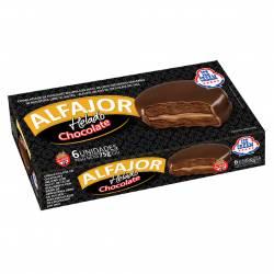Alfajor Helado Chocolate Relleno con Dulce de Leche Ice Cream x 6 un. 450 g.