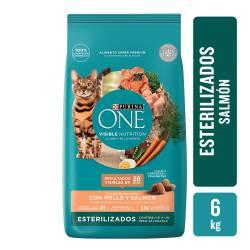 Alimento para Gato Castrado Salmon Purina One x 6 Kg.