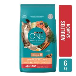 Alimento para Gato Adulto Salmon Purina One x 6 Kg.