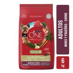 Alimento para Perro Adulto Raza Pequeña Carne Purina One x 6 Kg.
