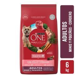 Alimento para Perro Adulto Raza Pequeña Cordero Purina One x 6 Kg.