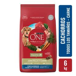 Alimento para Perro Cachorro Purina One x 6 Kg.