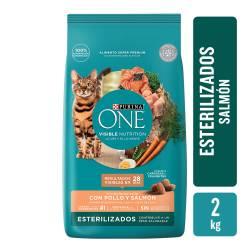 Alimento para Gatos Castrado Salmon Purina One x 2 Kg.