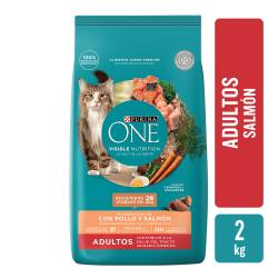 Alimento para Gato Adulto Salmon Purina One x 2 Kg.
