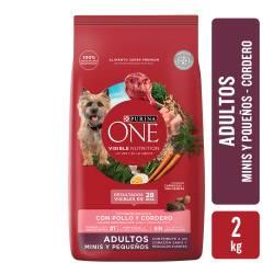 Alimento para Perro Adulto Raza Pequeña Cordero Purina One x 2 Kg.