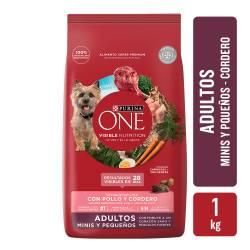 Alimento para Perro Adulto Raza Pequeña Cordero Purina One x 1 Kg.