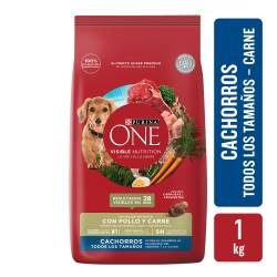 Alimento para Perro Cachorro Purina One x 1 Kg.