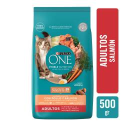 Alimento para Gato Adulto Salmon Purina One x 500 g.