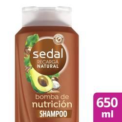 Shampoo Sedal Bomba Nutrición Antifrizz x 650 ml.