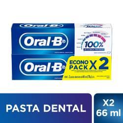 Crema Dental c/Flúor Oral-B x 2 un. 132 cc.