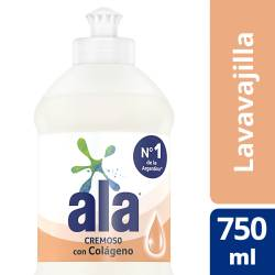 Detergente Líquido Cremoso c/ Colágeno Ala x 750 cc.