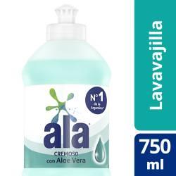 Detergente Desengrasante Ala Cremoso Aloe Vera x 750 ml.