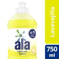 Detergente Desengrasante Ala Cristalino Limón x 750 ml.