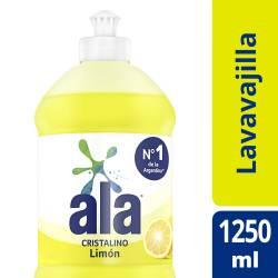 Detergente Desengrasante Ala Cristalino Limón x 1,25 Lt.