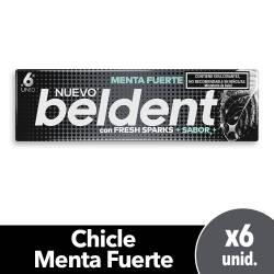 Chicles Menta Fuerte Fresh Sparks Beldent x 10 g.