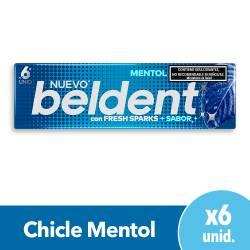 Chicles Mentol Fresh Sparks Beldent x 10 g.