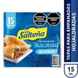 Tapas p/ Empanadas Horno La Salteña x 15 un.  412 g.