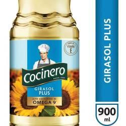 Aceite de Girasol Plus Cocinero x 900 cc.
