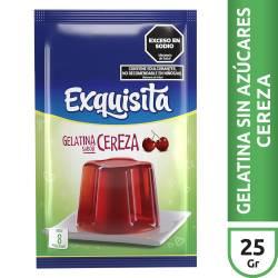 Gelatina en Polvo Cereza Light Exquisita x 25 g.