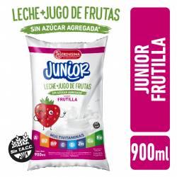 Bebida Láctea + Jugo de Fruta Frutilla Junior La Serenísima x 900 cc.