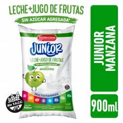Bebida Láctea + Jugo de Fruta Manzana Junior La Serenísima x 900 cc.