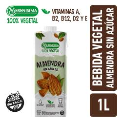 Alimento Vegetal Bebible a Base de Almendras sin Azúcar La Serenísima x 1 Lt.