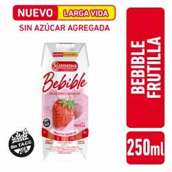 Bebida Láctea UAT s/Azúcar Agregada Frutilla La Serenísima x 250 cc.
