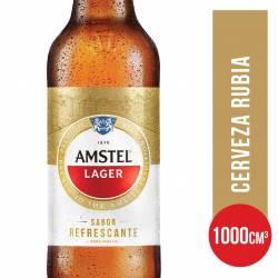 Cerveza Lager Botella Retornable Amstel x 1 Lt.