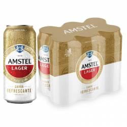 Cerveza Lager Amstel Pack x 6 Latas de 473 cc