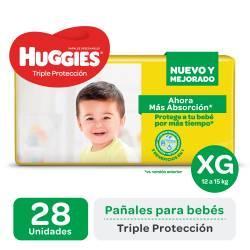 Pañal XG Triple Protección Híper Huggies x 28 un.