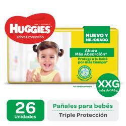Pañal XXG Triple Protección Híper Huggies x 26 un.