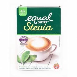Endulzante Sobres Stevia Equalsweet x 40 un.