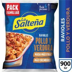 Ravioles de Pollo y Verdura La Salteña x 900 g.