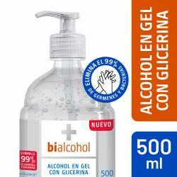 Alcohol Gel con Glicerina Bialcohol x 500 cc.