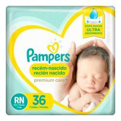 Pañal RN Premium Care Híper Pampers x 36 un.